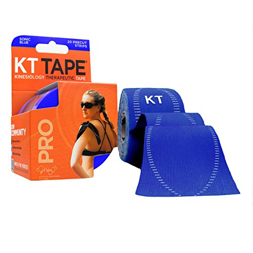 kt-tape-pro-synthetic-elastic-kinesiology-20-pre-cut-strips-therapeutic-tape-10-inch-sonic-blue