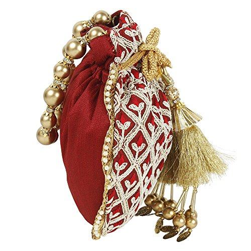 Collection Sac main main à à Superbe Colured femme Polti pour Maroon Sac ethnique w8qS5EE