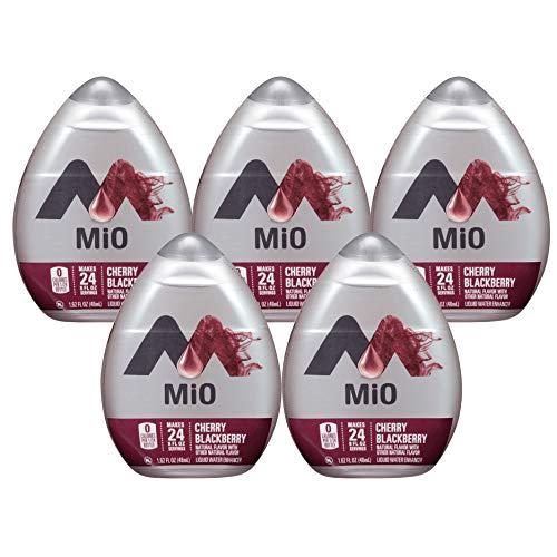 MiO Liquid Water Enhancer - Cherry Blackberry, makes 24 servings + Vitamins, 1.62 oz each, (Pack of 5)