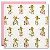 Pineapple Foil Design Cocktail Party Napkins – 20 Count For Sale
