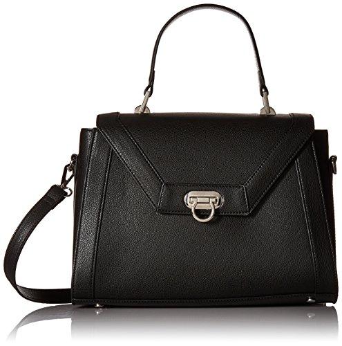 Strap Satchel Kadell Shoulder Bag Designer with Body Cross Leather Women Handbags Black qAw1nxfzw