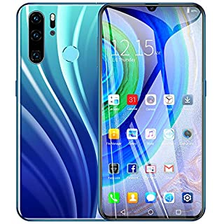 Aoile P40 PRO Factory Unlocked International Versio, 6.3 inch Full High-Definition Screen Smartphone with Face Recognition Gradient Blue-EU Plug