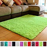 PAGISOFE Soft Boys Girls Room Rug Baby Nursery Decoration Carpet 4' x 5.3',Lime Green