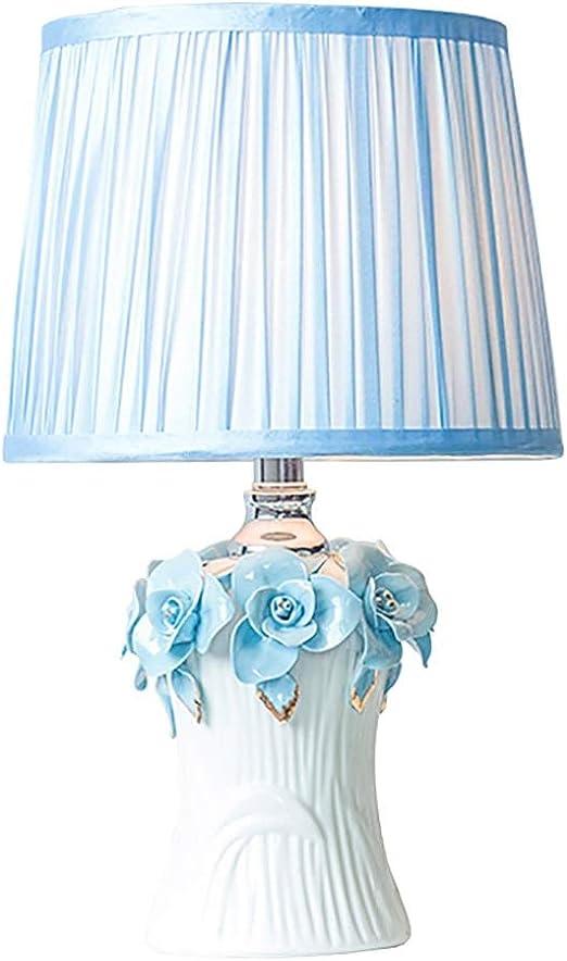 Lámpara de Mesa de cerámica Azul jardín decoración lámpara de ...