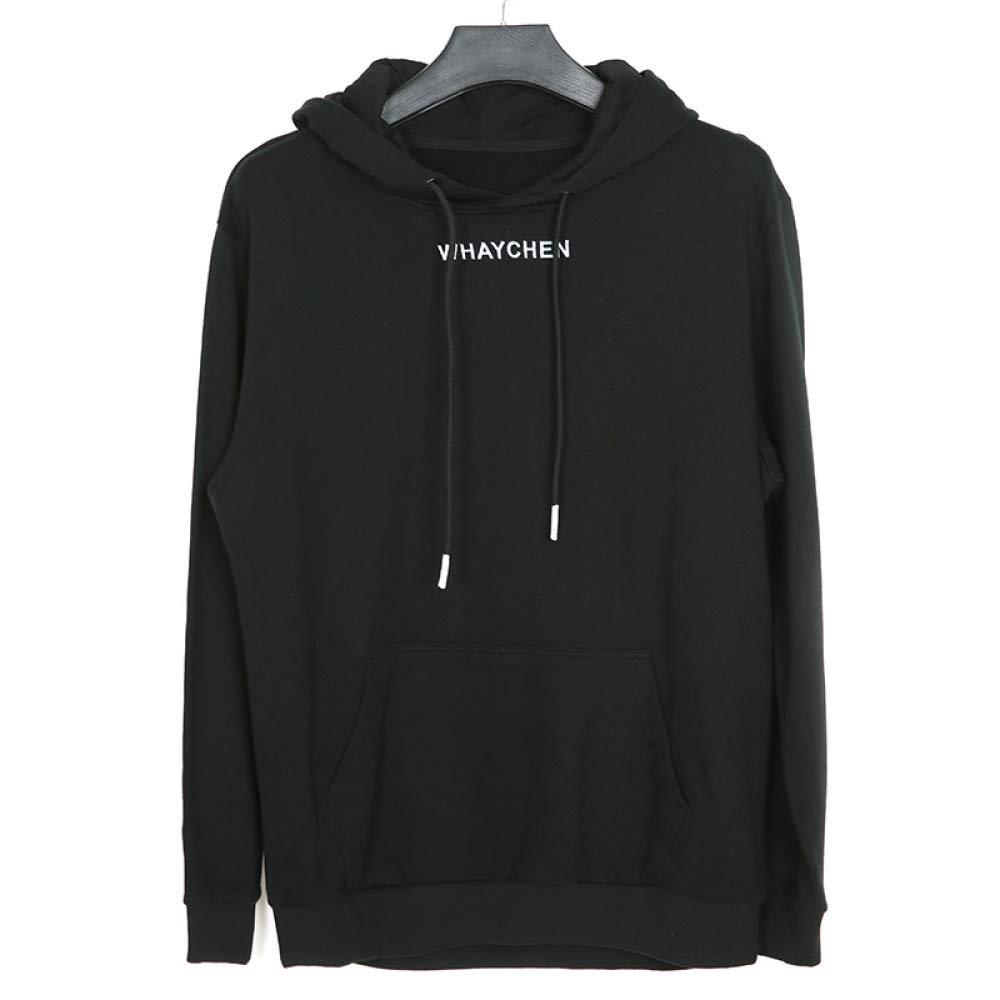 A 5XL Homme Noir à Manches Longues Chaud Pull Sportswear à Capuche hauts étudiant Veste Outwear Hommes Décontracté Sweat-Shirts en Vrac De Grande Taille sweat à capuches