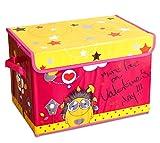 Tied Ribbons Foldable Toy Storage Box Large | Toys Basket For Kids | Storage Box Organizer| Basket For Household (25 cm X 38 cm X 26 cm, 25 Ltr)