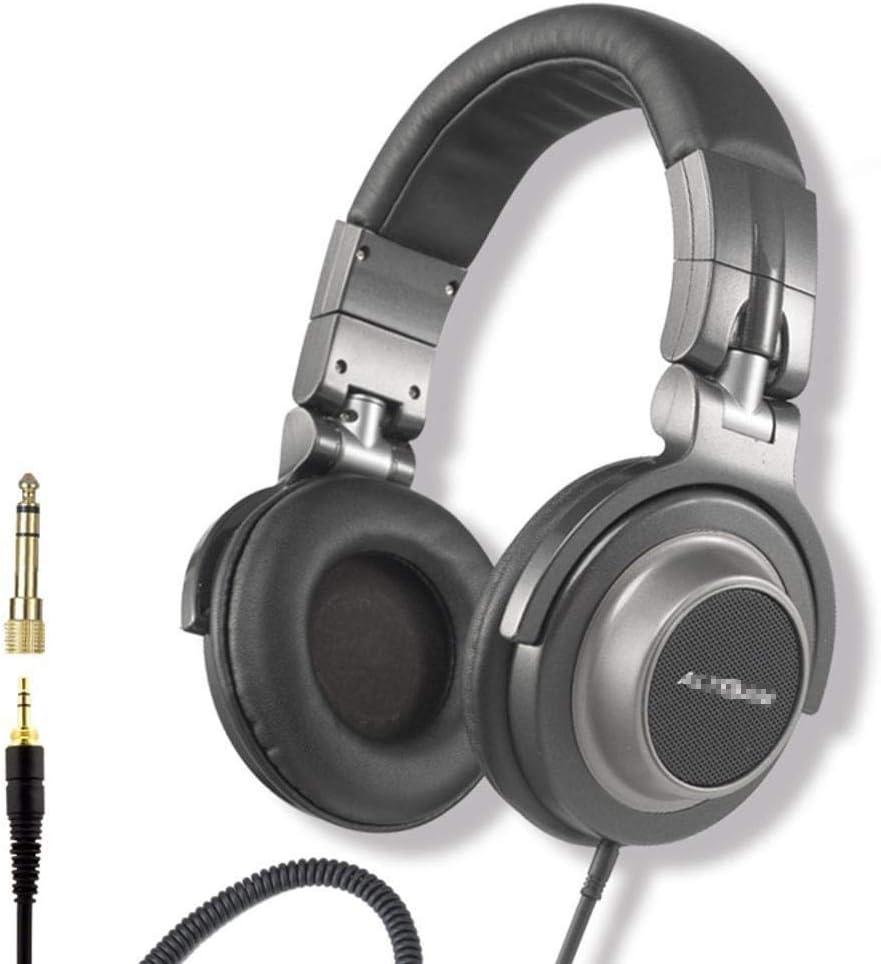 AOVOI Auriculares, subwoofer HiFi Vocal Natural DJ Profesional Auricular con Cable estéreo Juego de Juegos Auriculares (Negro): Amazon.es: Jardín