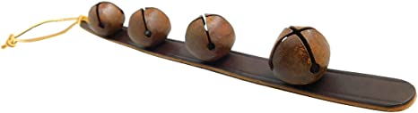 leather Sleigh bell strap feet decoration