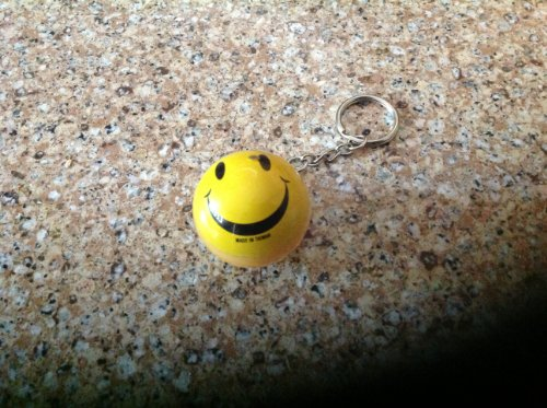 Smiley Yellow Face Classic Key Chain! Retired Collectible