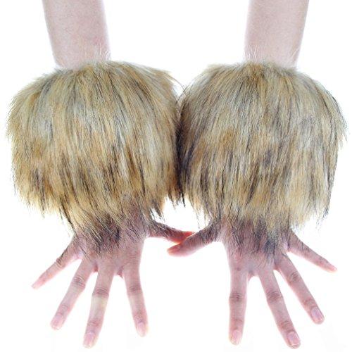 Ecosco Faux Fur Hair Soft Wrist Band Ring Cuff Fuzzy Warmer - Cuff Fur