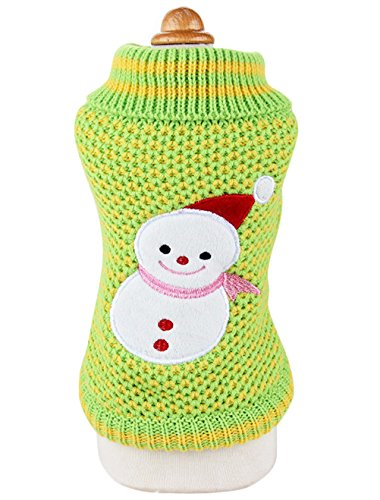 Uniquorn Fall Winter Pet Clothes Cute Christmas Snow Ball Sweater Poodle Bichon Dog Warm Comfortable Cotton Clothes