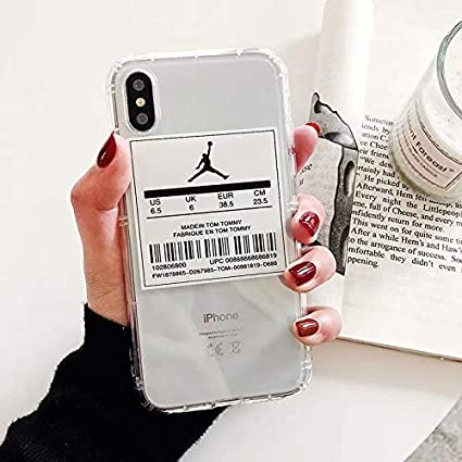 Amazon.com: 1 piece Jordan Brand Luxury Clear Back Cover For ...