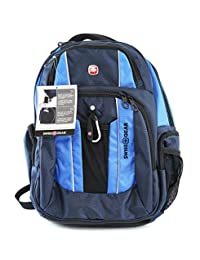 """Swiss Gear - Laptop and Tablet Backpack With USB Cable Integration and Fits Most 17.3"""" Laptops - Blue, Navy Blue"""