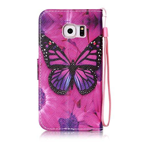 Samsung Con Libro Piel Flip Móvil Galaxy Smartphone 9 Polvo 2 Blanco De Magnético Cover nbsp;edge Atril Para Tarjetero Función S6 Funda Conector 7Pw5qP8