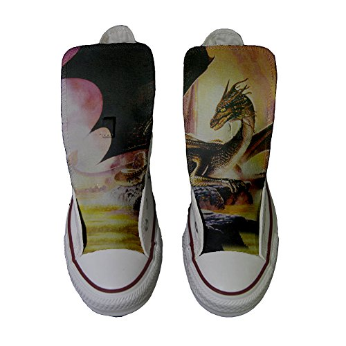 Scarpe Converse All Star Alte personalizzate (scarpe artigianali) Dragone