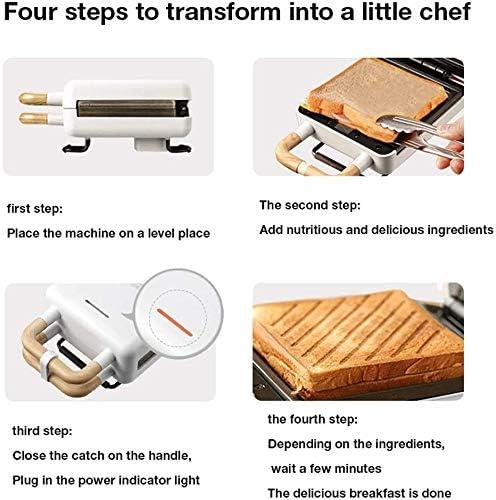 LKNJLL Waffle Maker Machine, Double-Sided Chauffage Machine à Pain Sandwich Maker Petit déjeuner Maker Pancake Maker Double Amovible Cuisson Plateau