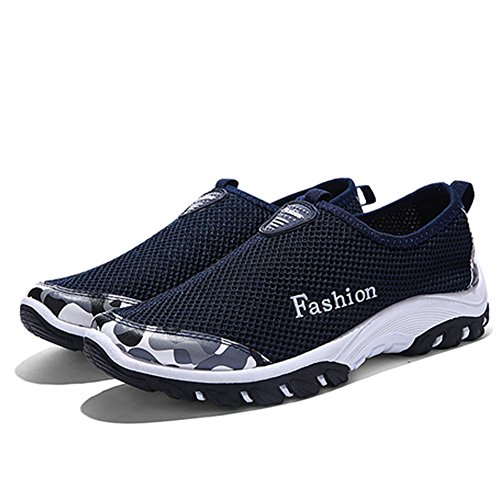 Female Shoes Cloth Sports Breathable and Hiking Male Shoes Outdoor Mesh Climbing Blue Dark 5xSnqv0