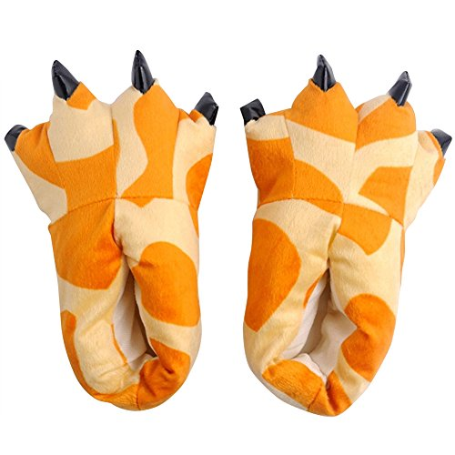 Maiernisi Unisex Animal Shoes Claw Giraffe Slippers nbsp;jessi Cosplay Paw Halloween Flannel House Costume qSwRxqr