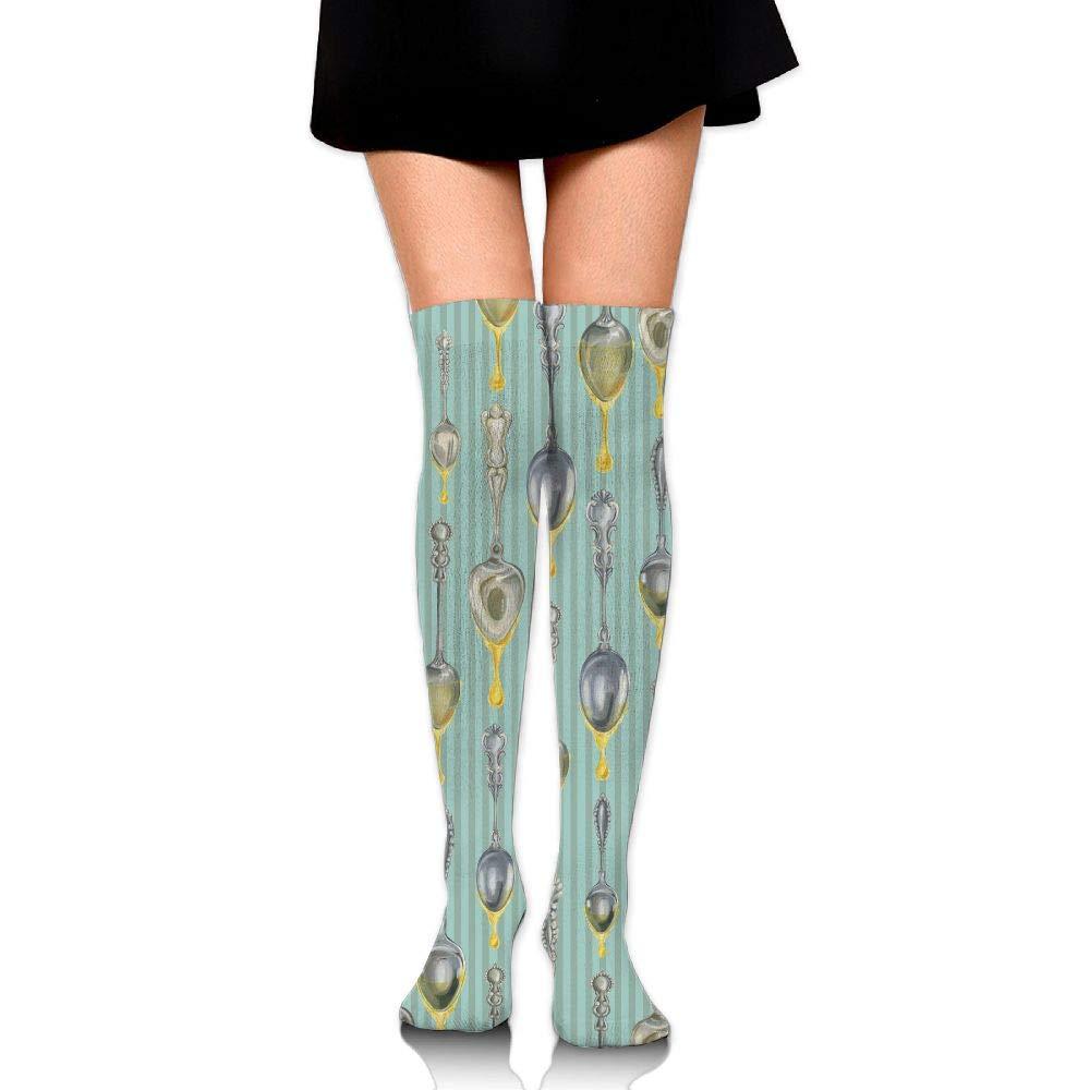 Women Socks Thigh High Jewelry Long Tube Dress Legging Athletic Compression Stocking