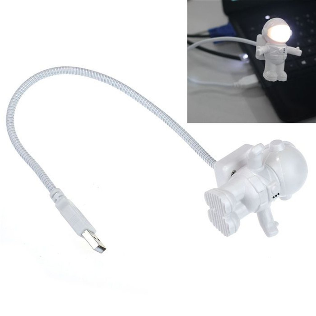 Gotd Creative Astronaut USB LED Light Lamp Laptop Desktop Computer Accessory