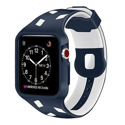 Amazon.com: yolovie Apple correa de reloj, Apple Watch Funda ...
