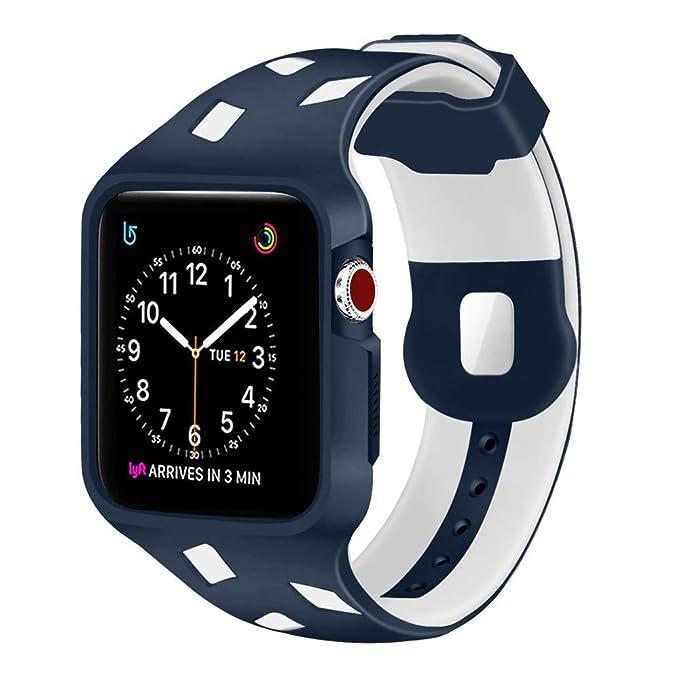 yolovie Apple Watch Banda, de 42 mm Apple Watch Carcasa de ...