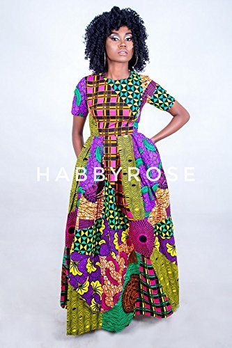 d3c05ad184524 Amazon.com: Somto Mixed Print Maxi dress with pockets, African dress, Long African  dress, Maxi African dress, Ankara dress, African fabric: Handmade