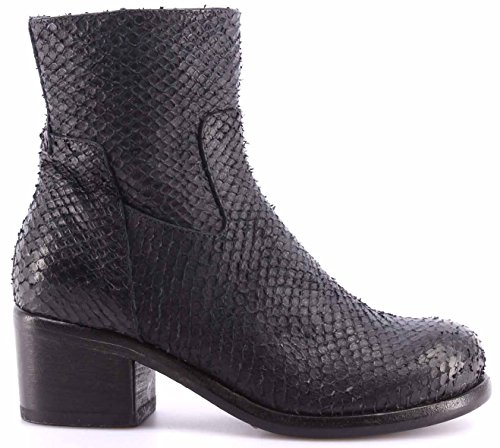 Zapatos Mujer Botines MOMA Ankle Boots 92504-PD Favo Blu Cuero Azul Vintage IT