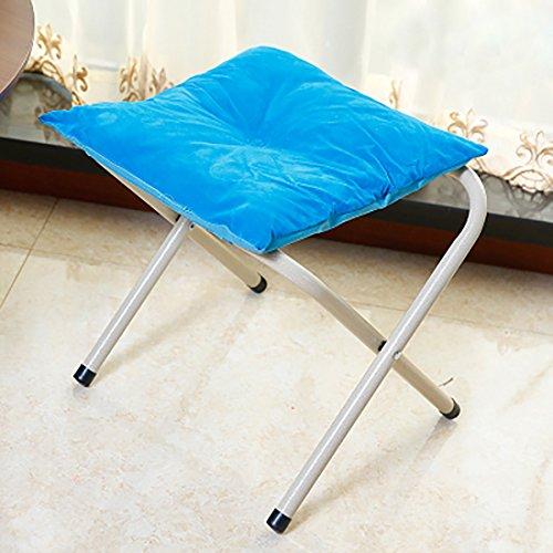 SANNIX Portable Footstool Comfortable Folding Foot Rest Stool Anti-Slip Footstool for Adults & Kids Fabric sky blue
