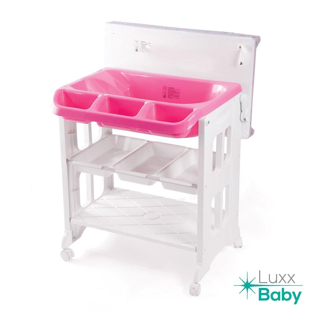 LuxxBaby BCS1 Bath Changing Station by Karibu (Pink)