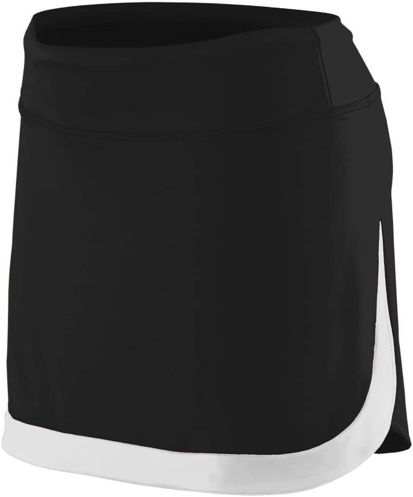 Augusta Sportswear Women'S Action Color Block Skort S Black/White