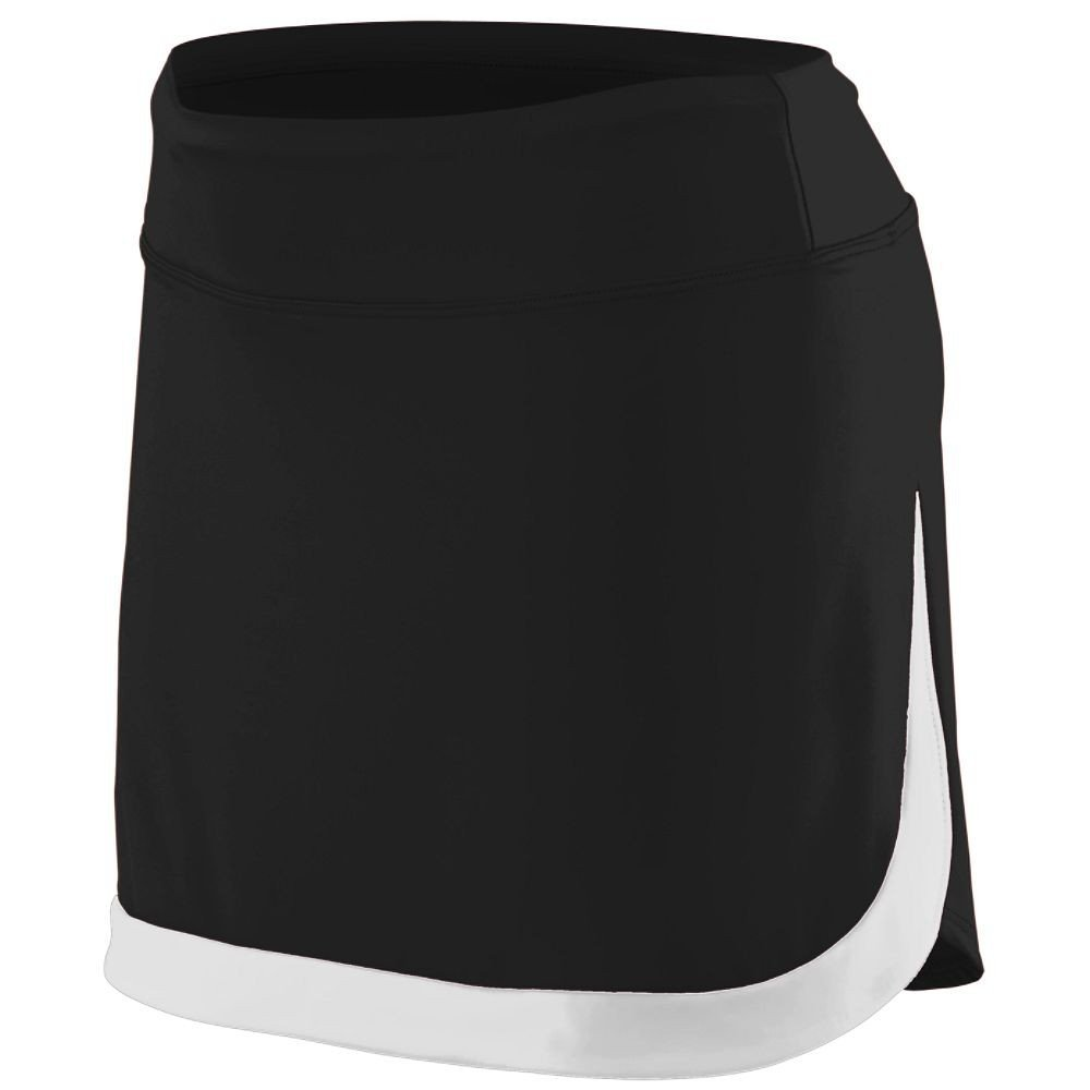 Augusta Sportswear Women'S Action Color Block Skort S Black/White