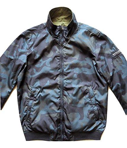 Wocps2286 Reversible Reversibile Jacket Estivo Giubbino Woolrich blu Impermeabile E blu s Shore Camouflage Camou 4zwI5aq5