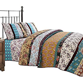 Amazon Com Brandream Luxury Patchwork Quilt Set Queen