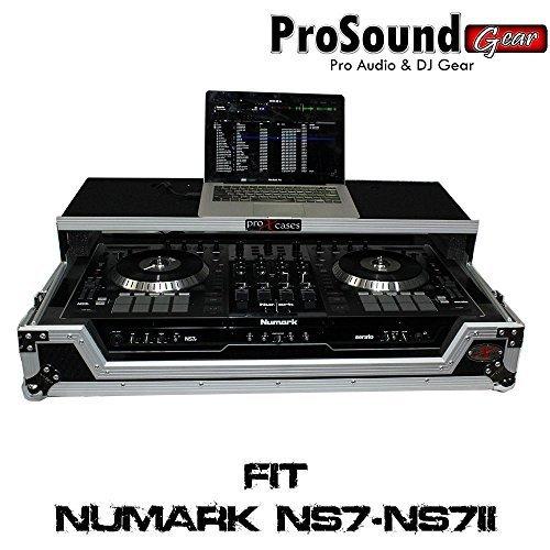 ProX Cases Numark NS7II Digital Controller Flight Case with Wheels & Laptop Shelf (ProSoundGear) Authorized Dealer (Mixtrack Pro Flight Case)