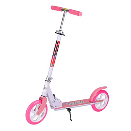 Scooter Patinete Plegable Rosa con Freno de pie, Pedal ...