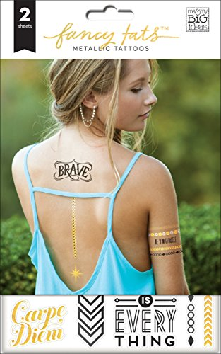 me & my BIG ideas Fancy Tats Brave Temporary (Brave Tattoos)