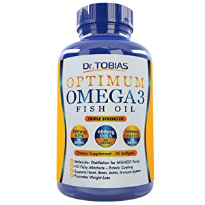 Dr. Tobias Omega 3 Fish Oil Pills, 90 Softgels