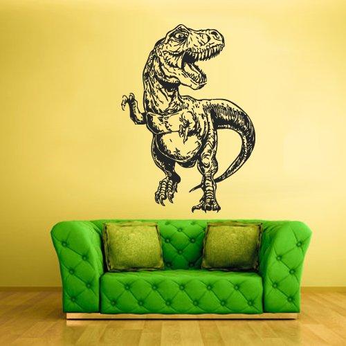Wall Vinyl Sticker Decals Decor Art Bedroom Kids Design Mural Nursery Trex Skull Predator Dinosaur Dino Detailed (Z2249) ()