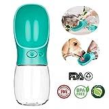 Earea Dog Water Bottle for Walking, Portable Dog Water Dispenser, Fashion Antibacterial Pet Water Bottle Travel Dog Cat Water Dispenser with Drinking Feeder, Leak Proof, BPA Free-350ml/12oz