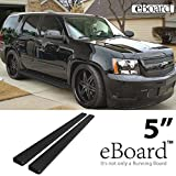 "eBoard Running Boards Black 5"" Fit 2000-2014 Chevy Suburb..."