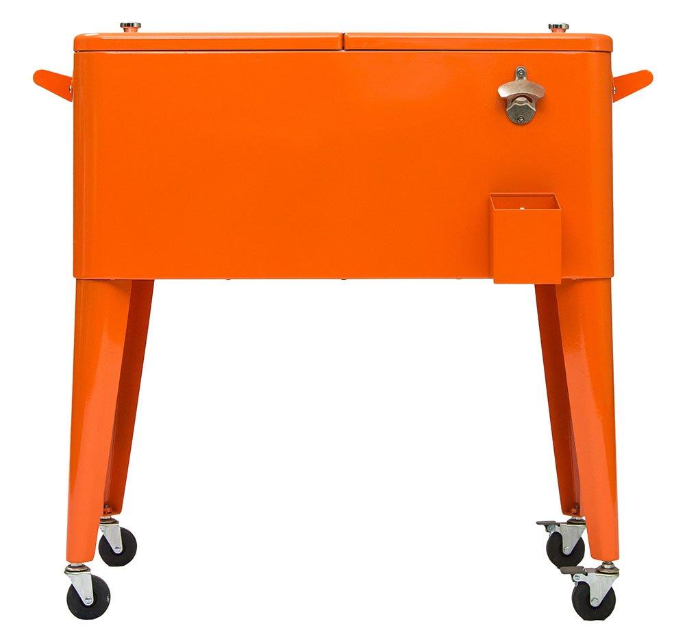Permasteel PS-203-ORG Patio Cooler, 80-Quart, Orange