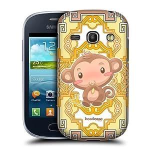 AIYAYA Samsung Case Designs Monkey Zodiac Animals Protective Snap-on Hard Back Case Cover for Samsung Galaxy Fame S6810