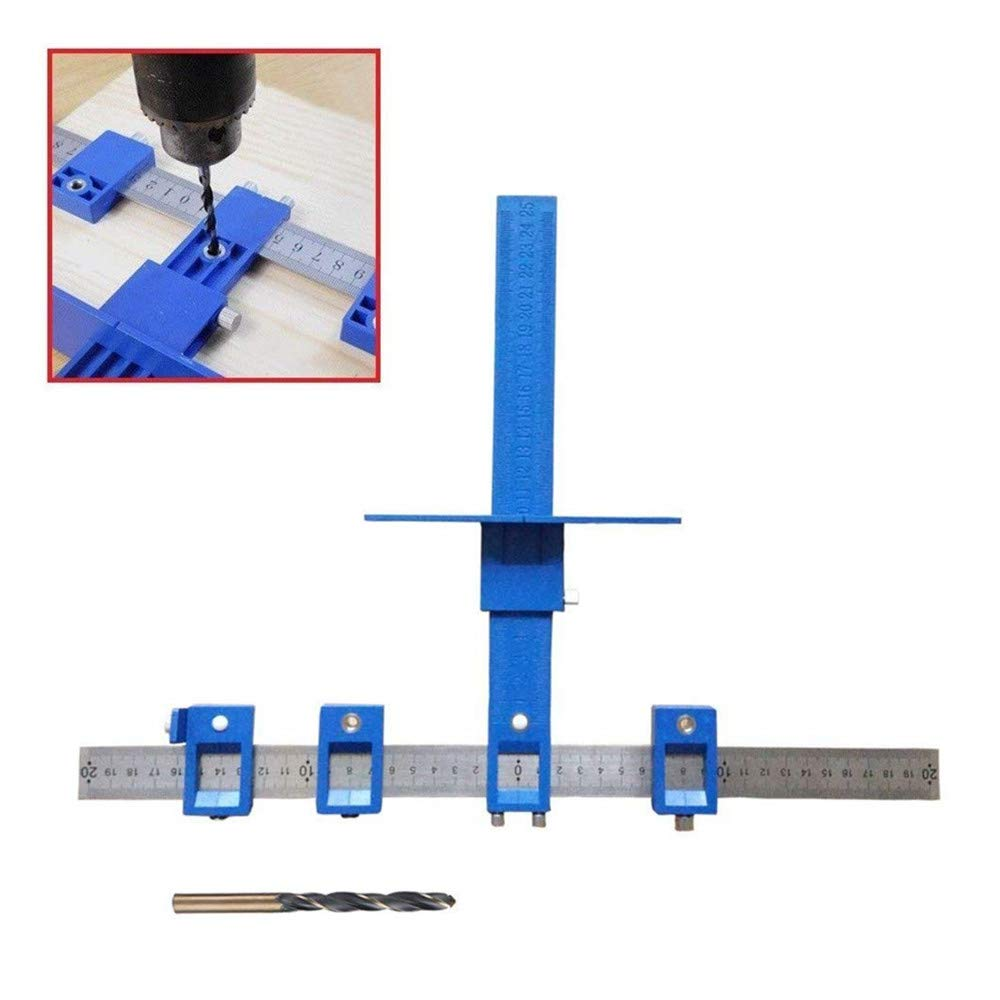 FOHYLOY Cabinet hardware Jig - True Position Tool with 4.2mm Drill Bit