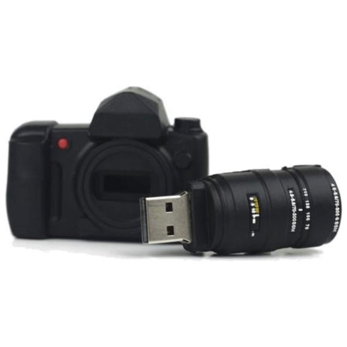 Memoria Almacenamiento de Datos Camera with Lens High Speed 3.0 Alta Velocidad Negro USB Flash Pen Drive Memory Stick Ulticool C/ámara con Lente de Fotos 16 GB