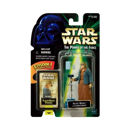 Star Wars The Power of the Force Action Figure w/ Flashback Photo - Aunt -