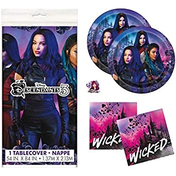 Amazon.com: Descendants - Pack de 3 adornos para fiestas de ...