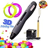3D Pen Non Toxic 3D Doodler Printing Pen - Cool Fun Gadget with 1 Button Operation - Full Kit with 2 PLA Filaments, USB & FREE Shovel Tool by Curiosity