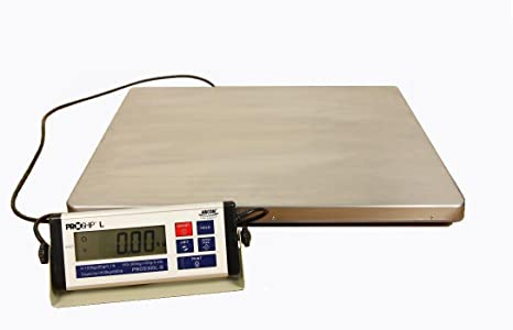 Báscula digital grande de 56 x 46 cm, 300 kg con incrementos de 50 gramos