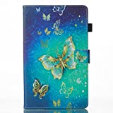 Case for All-New Fire HD 8 2016 (6th Generation), FIREFISH [Kickstand] PU Leather Folding Stand Bumper Shell Anti-Scratch Magnetic Closure Case for Fire HD 8 Tablet -Butterfly